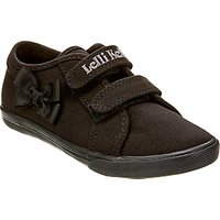 Lelli Kelly Lilly Canvas Plimsolls, Black