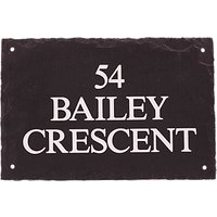 The House Nameplate Company Personalised Rustic Slate House Sign
