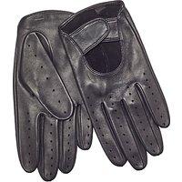 John Lewis Leather Driving Glove, Black