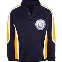 St Johns International School Boys Reversible Rugby Jersey, Navy Blue/Yellow