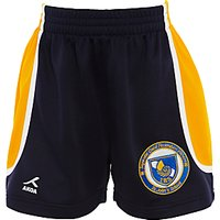 St Johns International School Boys Sport Shorts, Navy Blue/Yellow