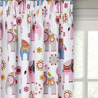 little home at John Lewis Abbey Elephant Pencil Pleat Blackout Lined Childrens Curtains