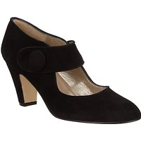 John Lewis Ali Mary Jane Block Heeled Court, Black Suede