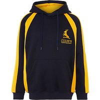 Colfes School Hooded Top, Navy Blue/Yellow