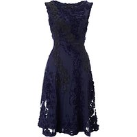 Phase Eight Collection 8 Callula Tapework Dress, Navy