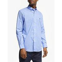 Polo Ralph Lauren Cotton Poplin Shirt, Blue/White