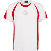Keble Preparatory School T-Shirt, White/Scarlet