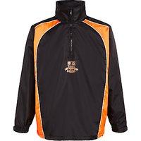 Keble Preparatory School Showerproof Rain Jacket, Black/Orange