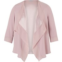 Chesca Satin Back Crepe Waterfall Jacket, Powder Pink