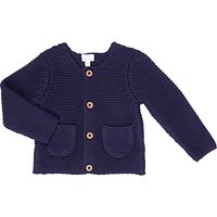 John Lewis Chunky Knitted Cardigan, Navy