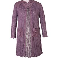Chesca Satin Trim Lace Coat, Haze