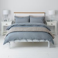 John Lewis Chambray Ties Duvet Cover and Pillowcase Set, Blue
