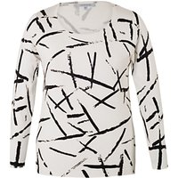 Chesca Brush Strokes Jumper, Ivory/Black