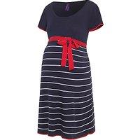Sraphine Hillary Maternity Stripe Dress, Navy/White