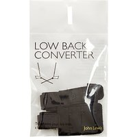 John Lewis Low Back Converter Straps, Black