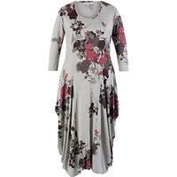 Chesca Flared Jersey Drape Dress, Grey