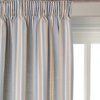 John Lewis Alban Stripe Pair Blackout Lined Pencil Pleat Curtains