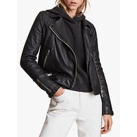 AllSaints Conroy Leather Biker Jacket, Ink
