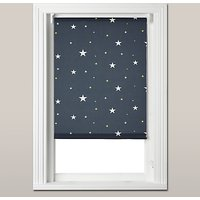 John Lewis Starry Night Blackout Roller Blind, Navy