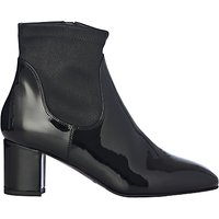 L.K. Bennett Shelley Block Heeled Ankle Boots, Black Patent Leather