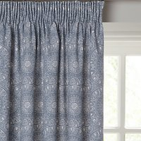 John Lewis Persia Lined Pencil Pleat Curtains, Indian Blue