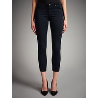 AG The Sateen Prima Cropped Skinny Jeans, Dark Navy