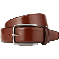 John Lewis Made in Italy Burnished Leather Belt, Tan