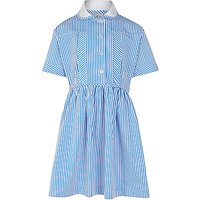 Cameron House School Girls' Summer Dress, Blue/White