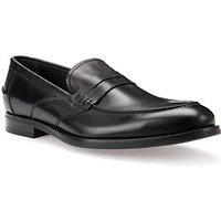 Geox Hampstead Leather Loafers, Black
