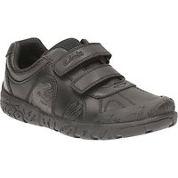 Clarks Childrens Bronto Step School Shoes, Black