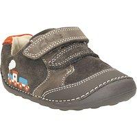 Clarks Tiny Tom Leather Shoes, Dark Grey