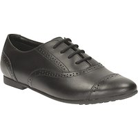 Clarks Childrens Selsey Cool Leather Brogue School Shoes, Black