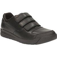 Clarks Childrens Monte Lite Leather School Shoes, Black