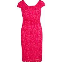 Gina Bacconi Stretch Lace Dress, Bright Pink