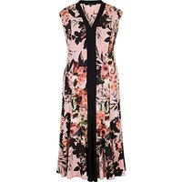 Chesca Rose Print Jersey Dress, Apricot