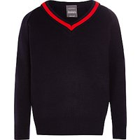 Berkhampstead School Pullover, Navy/Red
