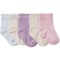 John Lewis Baby Pretty Socks, Pack of 5, Pink/Multi