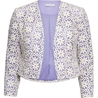 Gina Bacconi Daisy Embroidered Jacket, Spring Lavender