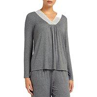 John Lewis & Partners Alicia Jersey Long Sleeve Pyjama Top
