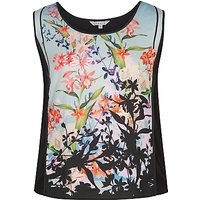 Chesca Floral Print Jersey Camisole Top, Black