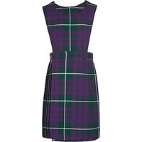 Pointer School Girls' Tartan Tunic Dress, Purple/Multi