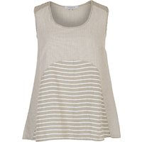 Chesca Mixed Stripe Linen Cami