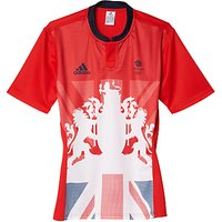 Adidas Team GB Mens Rugby Shirt, Red