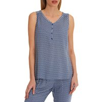 Betty & Co. Graphic Print Top, Dark Blue