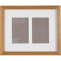 John Lewis Multi-aperture Box Photo Frame, 2 Photo, 4 x 6 (10 x 15cm)