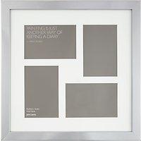 John Lewis Multi-aperture Square Box Photo Frame, 4 Photo, 4 x 6 (10 x 15cm)