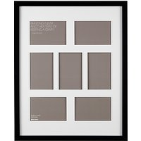 John Lewis Multi-aperture Box Photo Frame, 7 Photo, 4 x 6 (10 x 15cm)