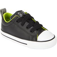 Converse Childrens Chuck Taylor All Star Street Lace Shoes, Black/Lime