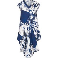 Chesca Abstract Block Floral Dress