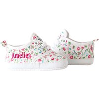 My 1st Years Baby Personalised Ditsy Print Trainers, Multi